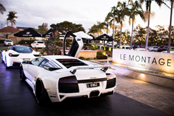 Lamborghini outside the iconic sydney wedding venue Le Montage