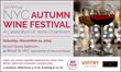 NYC Autumn wine tasting in Lower Manhattan. Sat., 11/21, Broad Street Ballroom, 41 Broad Street, NYC.