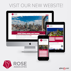 Graphic of Rose Website on deaktop, mobile phone and tablet views