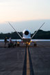 Ground crews prepare NASA's Global Hawk for the 2015 inaugural flight over Tropical Storm Erika as part of the NOAA-led mission Sensing Hazards with Operational Unmanned Technology (SHOUT). Photo cred