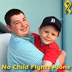 Joshua and Isaac, two childhood cancer survivors giving back.