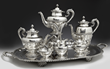 Mexican silver tea set by Lindo, from the  Robert Penn Warren House