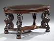 American Renaissance carved mahogany table from the Robert Penn Warren House