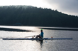 one person rowing rowing scull using Hyndsight's Cruz