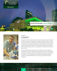 USF CAMLS website design by Bayshore Solutions