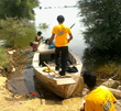 Dianetics Assist Team helping families retrieve possessions and food they abandoned when flash floods struck region.