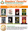2015 Readers Favorites Book Award contest, thriller winners
