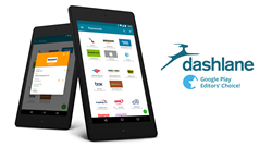 Dashlane Android password manager on tablets