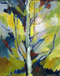 Connecticut Senior Juried Art Show:  4th Place Winner in Painting Catergory – Thelma Hayward, age 87, of Essex, CT – Tree Motif #1 (Oil)