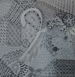 Connecticut Senior Juried Art Show: 4th Place in Drawing Category – Frietha Lawrence, age 77, of Ashford, CT – Tangled F (Pen and Ink)