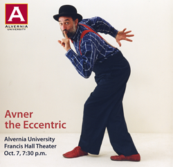 Avner the Eccentric at Alvernia University, Oct. 7