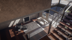Loft design imported with Muto and rendered with Unity