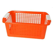 Orange plastic baskets from JustPlasticBoxes.com