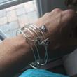 Bangle Bracelet On Wrist