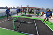 Sport Court and ReImagine Tennis Place Micro-Courts on Circle Line Ships During U.S. Open