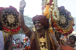 His Holiness Paramahamsa Nithyananda in the Grand Kumbh Mela procession after the Shahi Snaan (sacred dip in Nectar of river Godavari) on September 11th in Nasik, India .