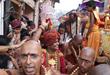 His Holiness Paramahamsa Nithyananda starting the Grand Kumbh Mela procession to the Shahi Snaan (sacred dip in Nectar of river Godavari) on September 11th in Nasik, India .
