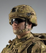Revision's fully integrated, fully modular Cobra Plus  Head Protection System designed for UK Troops features an advanced, lightweight ballistic helmet shell, liner, retention system, front mount and