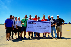 "Pictured L to R: Todd Boeding, Carry The Load, Ryan ""Birdman"" Parrott, Sons of the Flag,  Derek Pederson, Tip of the Spear Foundation , Frances ""Buck' Kern, Snowball Express, David Vobora, Adaptive Training Foundation, Christopher Talcott, Center for Brai"
