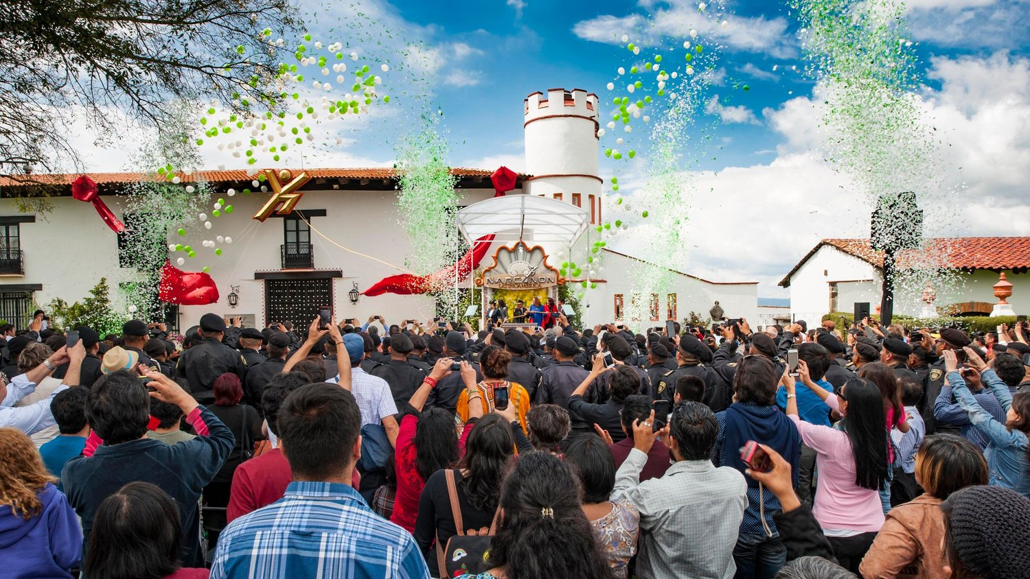SUPPORTERS, dignitaries and guests gathered in Villa Victoria, Mexico ...
