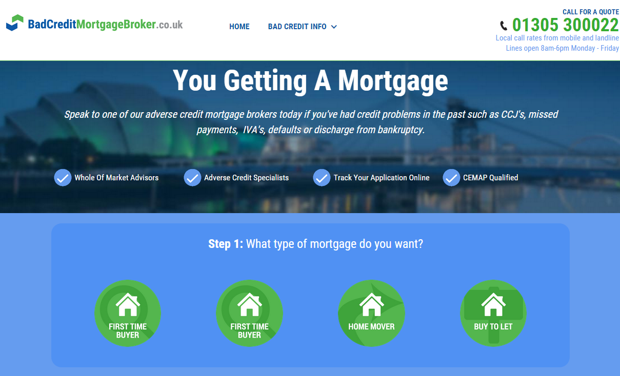 Mortgage broker for bad credit