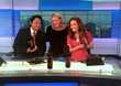 Channel 10 Morning News KGTV San Diego 8am Weekend newscast with anchors Vanessa Van Hyfte and Robert Santos interviewing Crystalyn Hoffman President/Co-founder of Spicy Vines