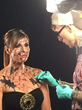 "Tattoo Artist applies special effect makeup to Raquel Aurilia for ""Shattered"" music video production."