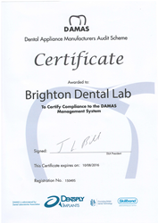 DAMAS certification for Brighton Implant Clinic