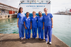 Mercy Ships volunteers embarked on a 20 city tour  throughout Madagascar, teaching local surgical teams about the WHO SAFE Surgical Checklist, which has been proven to decrease operating room mortality by about 50%.