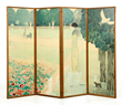 "Cassigneul, ""Le Jardin du Luxembourg,"" Four Panel Screen"
