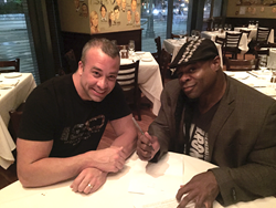 David Vollmer, Jr. and Kai Greene Signing Partnership Contract