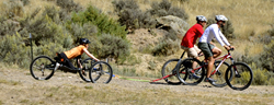 Adventure Team Challenge Colorado downhill cycling in 2014.