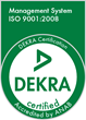 ISO 9001:2008 Certified by DEKRA