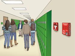 hallway emergency phone
