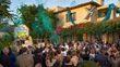 NARCONON SUPPORTERS AND THEIR GUESTS gathered at the exquisite new Narconon center in Ojai, California, Sunday, September 13, to celebrate the opening of the new center that will provide Narconon's acclaimed drug rehabilitation services to artists and lea