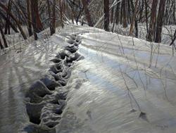 "Image of pastel painter Linda Gross Brown's pastel painting ""Footsteps #14"""