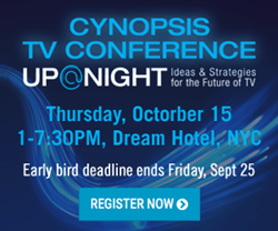 Cynopsis TV Conference: Up @ Night Early Bird Banner