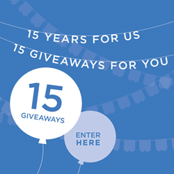 15 Years for Us 15 Giveaways for You