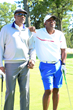 Julius Erving & Joe Carter hang at the Julius Erving Golf Classic at Aronimink Golf Club