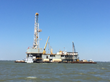CEG Holdings - Project Barge Rig Pulling Into Galveston Bay - Texas