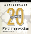 First Impression Security Doors - 20 Years in Business