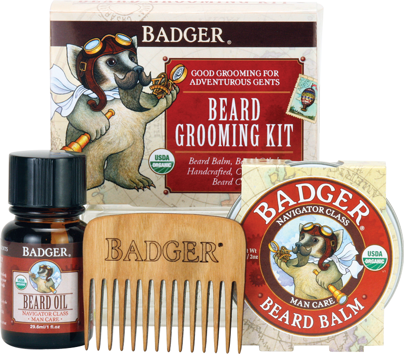 badger launches new beard balm hair oil and beard grooming kit at natural pr. Black Bedroom Furniture Sets. Home Design Ideas