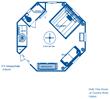 Tree house lodging floor plan