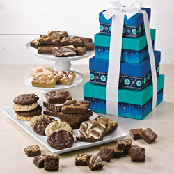 fudge brownies, holiday packaging