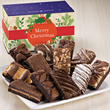 fudge brownies, Christmas packaging