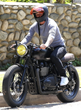 Ride it Like Beckham - David Beckham Spotted Riding a British Customs Edition Triumph Bonneville Motorcycle