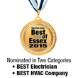 Bloomfield Cooling, Heating & Electric, Inc. is Nominated as Best HVAC Company and Best Electrician in 2015 Best of Essex Readers' Choice Awards