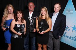 Members of the On-Target! team pictured at the 2015 Texas Star Awards