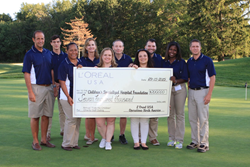 L'Oreal USA, L'Oreal, Clark New Jersey, Golf Outing, Check, Charity, Children's Hospital, Children's Specialized Hospital