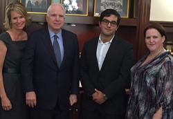 Kisa Heyer with Dream Foundation, Senator John McCain, Arizona dream recipients